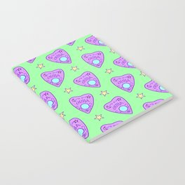 Planchette Pattern on Green Notebook