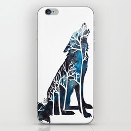 Wolfs night iPhone Skin