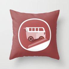Mini Van Throw Pillow