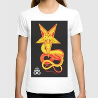 pentagram T-shirts featuring Pentagram Goathead by T Alexander