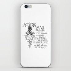 Alice In Wonderland Jabberwocky Poem iPhone Skin