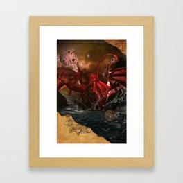 Cthulhu Rises With Shoggoths Framed Art Print