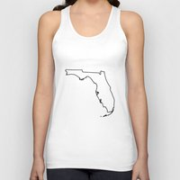 florida Tank Tops featuring Florida by mrTidwell