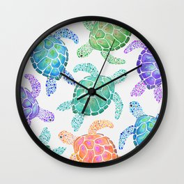 Sea Turtle - Colour Wall Clock