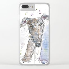 Squiggly dog. Clear iPhone Case