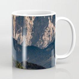 Austria mountains clouds church forest Steiermark Coffee Mug
