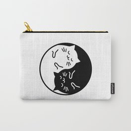 Cute cats Yin Yang sign Carry-All Pouch