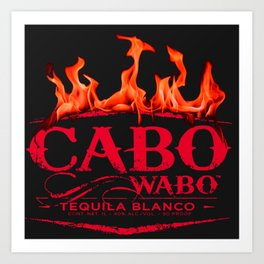 Cabo Wabo Tequila Red Chili Fire Logo Art Print
