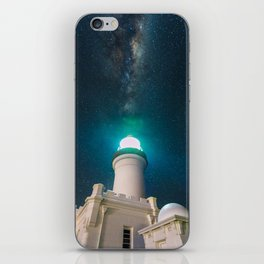 Byron Bay Lighthouse and the Milky Way iPhone Skin