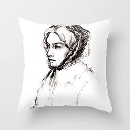 Museum Sketch: Feuerbach Throw Pillow