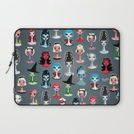 Spooky Dolls Pattern Laptop Sleeve
