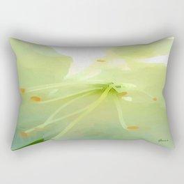White Azalea Rectangular Pillow