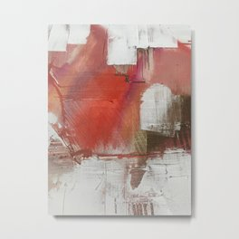 California Sun [2]: a minimal, abstract piece in reds and gold by Alyssa Hamilton Art Metal Print