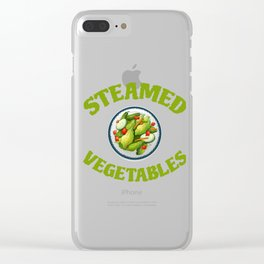 Steamed Vegetables Clear iPhone Case