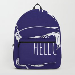 Hello there  -  cute boy illustration Backpack