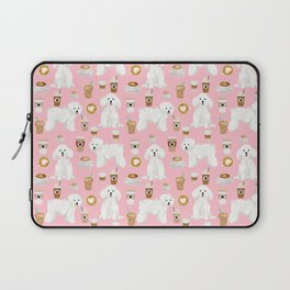 Bichon Frise coffee latte mocha lover cafe dog portrait gifts for dog lovers with bichons Laptop Sleeve
