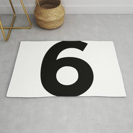 Number 6 (Black & White) Rug