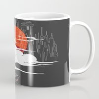 voyage Mugs featuring Uncharted Voyage by Marco Angeles