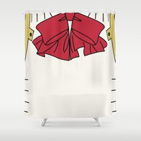persona Shower Curtains featuring Persona 3 Aigis  by Bunny Frost