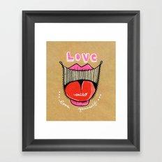 Love smile : Love Yourself Framed Art Print