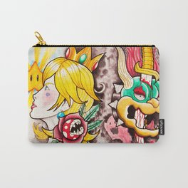Peach and Bowser Tattoo Flash Carry-All Pouch