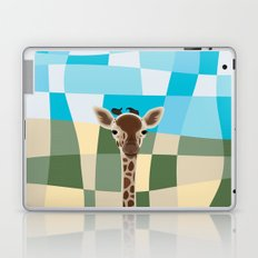 Wild Giraffe Baby on the grassland Laptop & iPad Skin