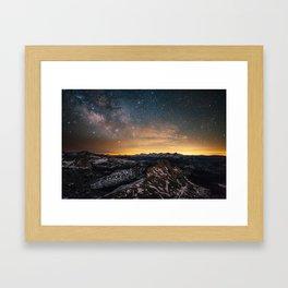 Matthes Crest Milky Way Framed Art Print