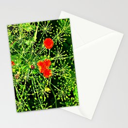 Neon floral burst of energy Stationery Cards