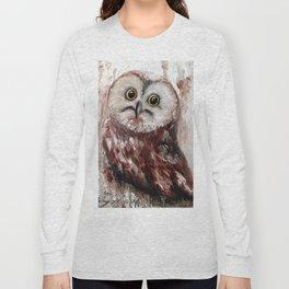 Yellow Eyed Owl Long Sleeve T-shirt