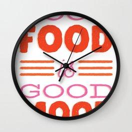 Good Food Mood Wall Clock
