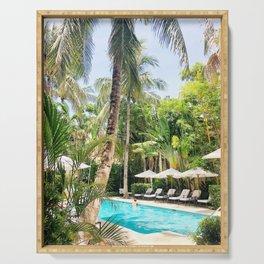 Brazilian Court Hotel pool Serving Tray
