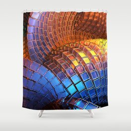 Waveform Shower Curtain