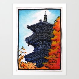 Japan : Koshoji Temple Pagoda Art Print