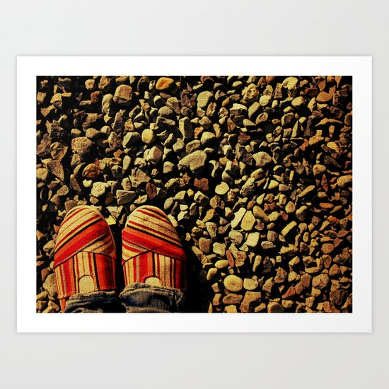 Shoes on the Rocks Art Print