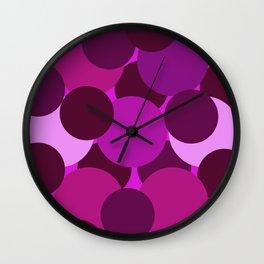 Abstract Circles Pink Wall Clock