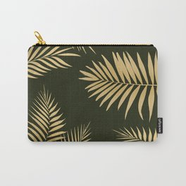 Golden and Green Palm Leaves Carry-All Pouch
