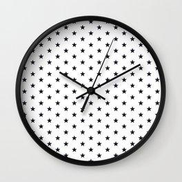 Superstars Black on White Small Wall Clock
