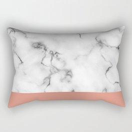 Marble & copper Rectangular Pillow