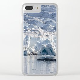 Ice art by nature on glacier and in ocean Clear iPhone Case