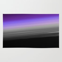 Purple Gray Black Smooth Ombre Rug