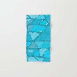 Abtract blue blotches Hand & Bath Towel