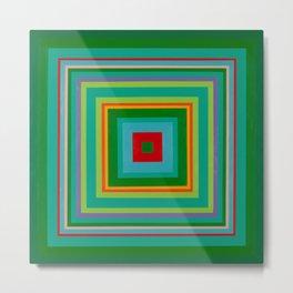 """Pop Ring Green""   Op art Metal Print"