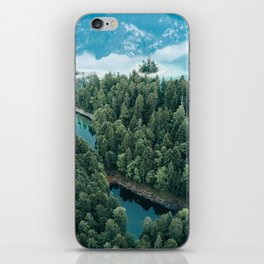 Mountain in a Lake - Landscape Photography iPhone Skin