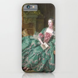 Portrait of Madame de Pompadour by François Boucher iPhone Case