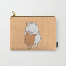 Bull Terrier Hugs Carry-All Pouch