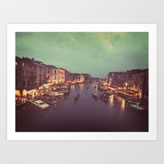 Pretty Lights in Venice  Art Print