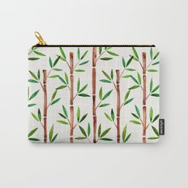 Bamboo Stems – Green Leaves Carry-All Pouch