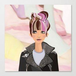 Punk Girl  Canvas Print