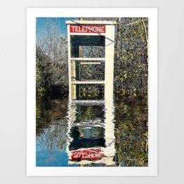 Phone Booth Rising #1 Art Print