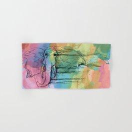 Watercolor for Elephants. Hand & Bath Towel